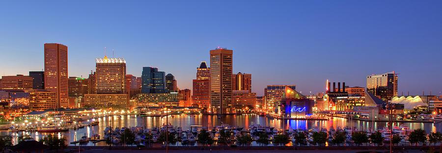 Baltimore Cityscape Photograph by Bookwyrmm