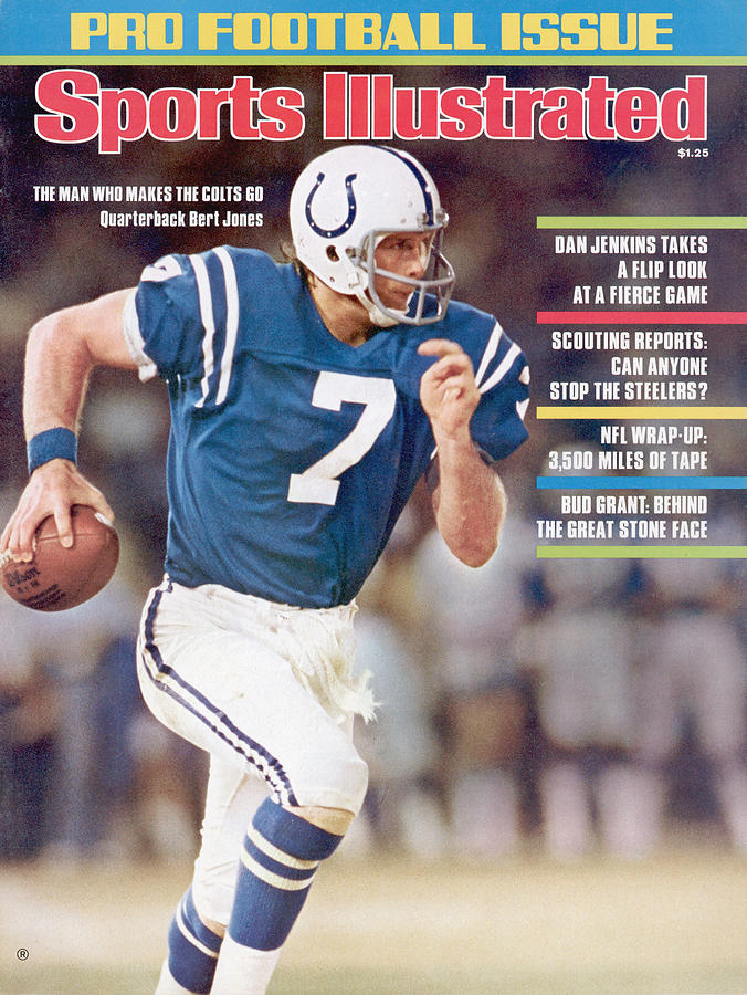 Baltimore Colts Qb Bert Jones, 1976 Nfl Football Preview Sports Illustrated Cover Photograph by Sports Illustrated