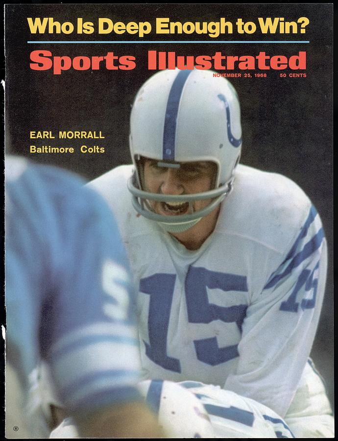 Baltimore Colts Qb Earl Morrall Sports Illustrated Cover Photograph by Sports Illustrated