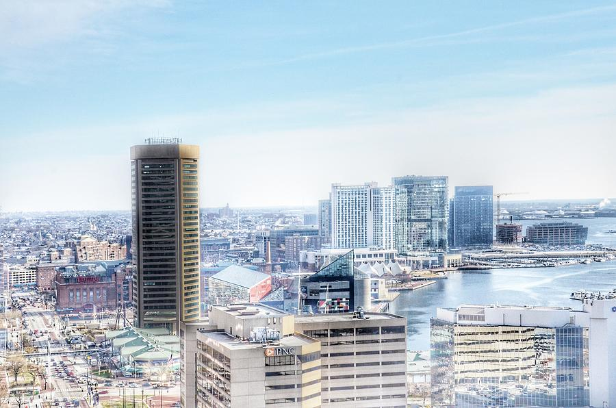 Baltimore Inner Harbor Aerial Landscape, Maryland by Marianna Mills