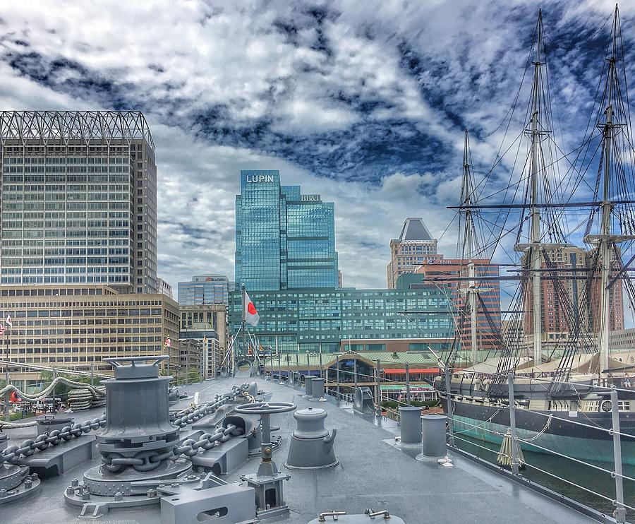 Baltimore Landscape from The Japanese Maritime Self-Defense Force Training Ship, Maryland by Marianna Mills