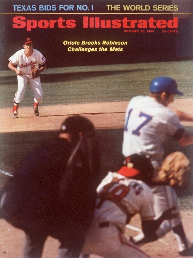 Baltimore Orioles Brooks Robinson, 1969 World Series Sports Illustrated Cover Photograph by Sports Illustrated