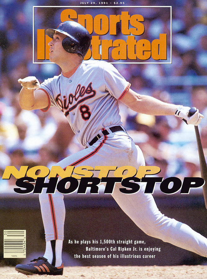 Baltimore Orioles Cal Ripken Jr... Sports Illustrated Cover Photograph by Sports Illustrated