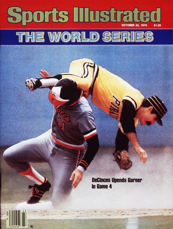 Baltimore Orioles Doug Decinces, 1979 World Series Sports Illustrated Cover Photograph by Sports Illustrated
