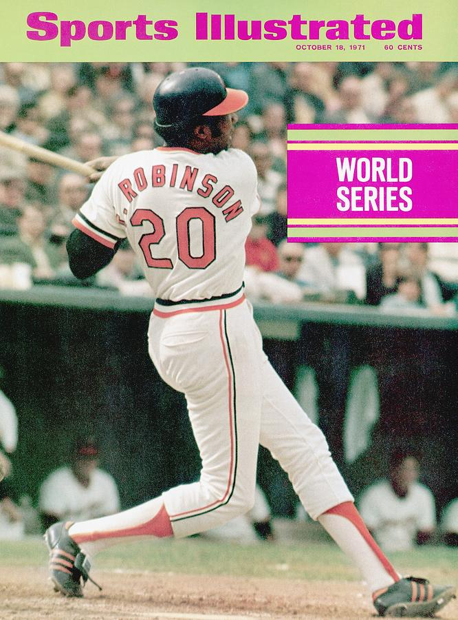 Baltimore Orioles Frank Robinson, 1971 World Series Sports Illustrated Cover Photograph by Sports Illustrated