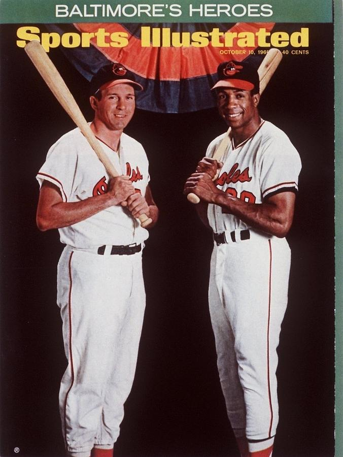 Baltimore Orioles Frank Robinson And Brooks Robinson Sports Illustrated Cover Photograph by Sports Illustrated