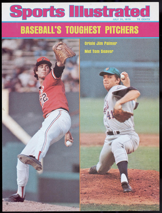Baltimore Orioles Jim Palmer And New York Mets Tom Seaver Sports Illustrated Cover Photograph by Sports Illustrated