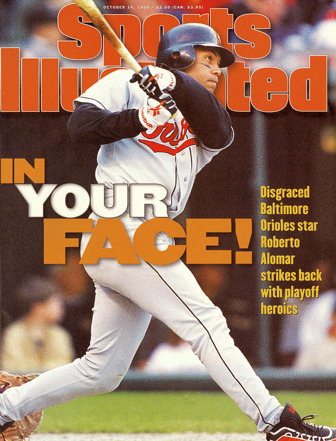 Baltimore Orioles Roberto Alomar, 1996 American League Sports Illustrated Cover Photograph by Sports Illustrated