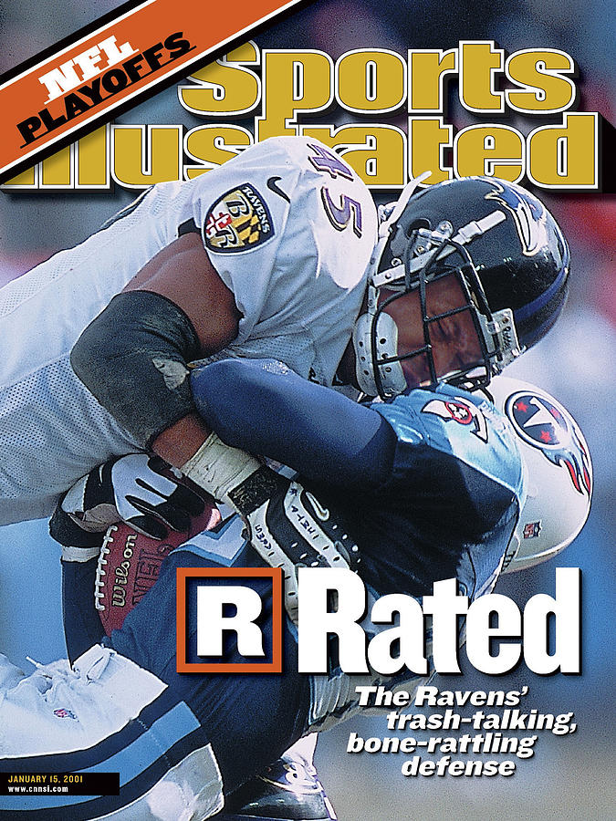 Baltimore Ravens Corey Harris, 2001 Afc Divisional Playoffs Sports Illustrated Cover Photograph by Sports Illustrated