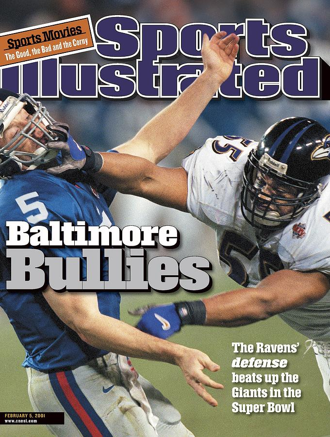 Baltimore Ravens Jamie Sharper, Super Bowl Xxxv Sports Illustrated Cover Photograph by Sports Illustrated
