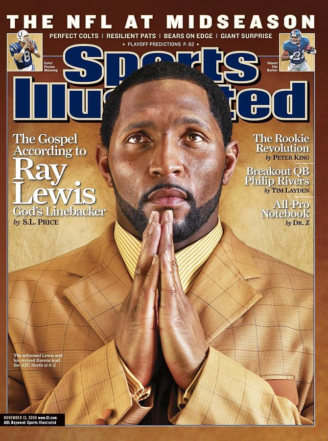 Baltimore Ravens Ray Lewis Sports Illustrated Cover Photograph by Sports Illustrated