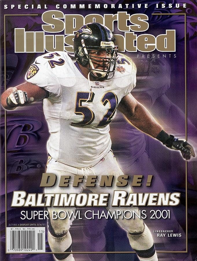 Baltimore Ravens Ray Lewis, Super Bowl Xxxv Sports Illustrated Cover Photograph by Sports Illustrated