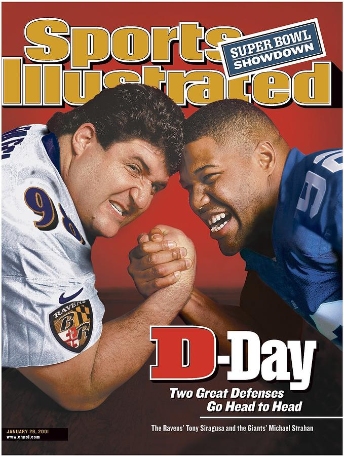 Baltimore Ravens Tony Siragusa And New York Giants Michael Sports Illustrated Cover Photograph by Sports Illustrated