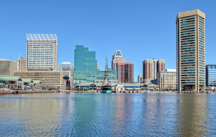 Baltimores Inner Harbor Buildings Photograph by Drnadig