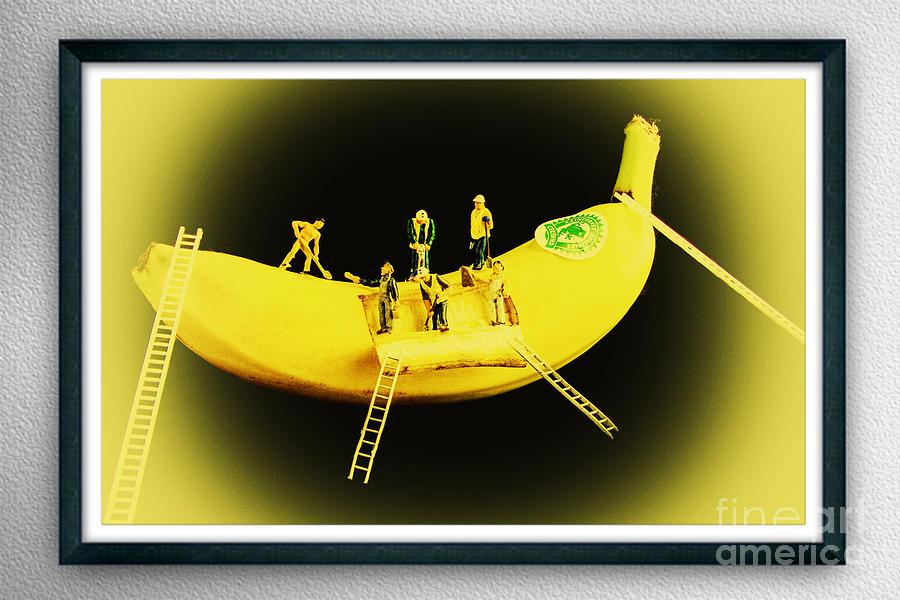 Banana Boat Mining Company Black Frame Photograph