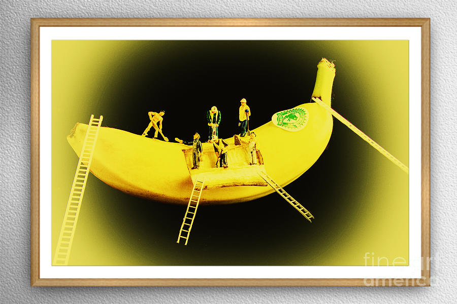 Banana Boat Mining Company Wood Frame Photograph