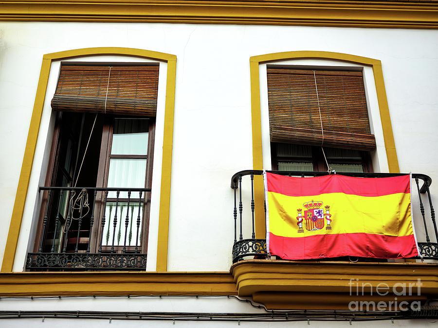 Bandera de Espana in Seville by John Rizzuto