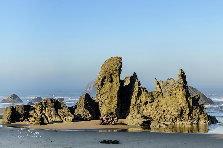 Bandon Beach Photograph - Bandon Beach Rocks by Jim Thompson
