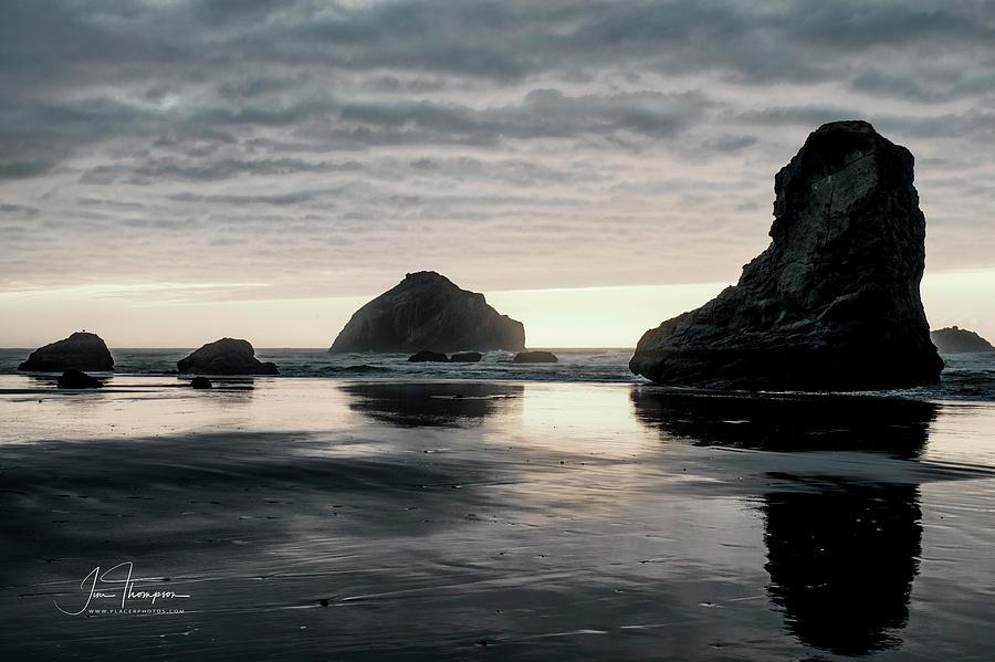 Bandon Beach Sunset 1 by Jim Thompson
