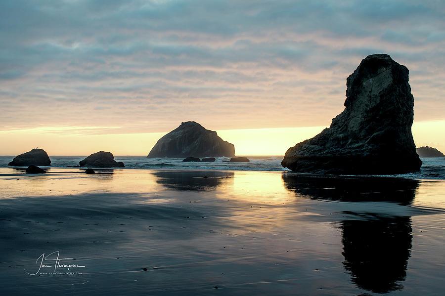 Bandon Beach Sunset 3 by Jim Thompson