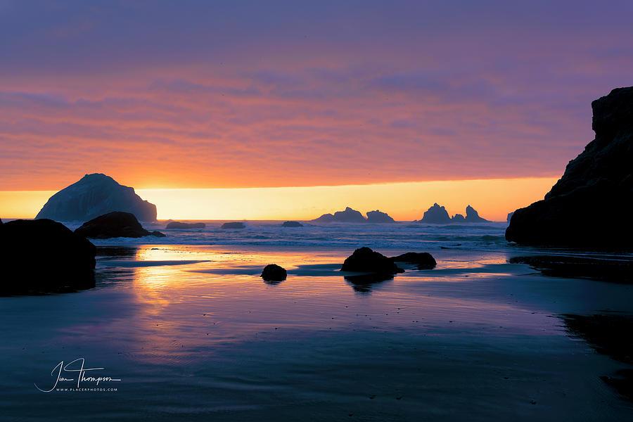 Bandon Beach Sunset 4 by Jim Thompson