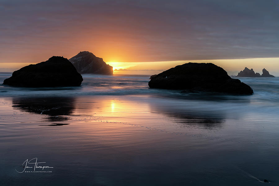 Bandon Beach Sunset 5 by Jim Thompson