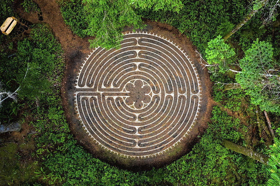 Bandon Dunes Labyrinth by Mike Centioli