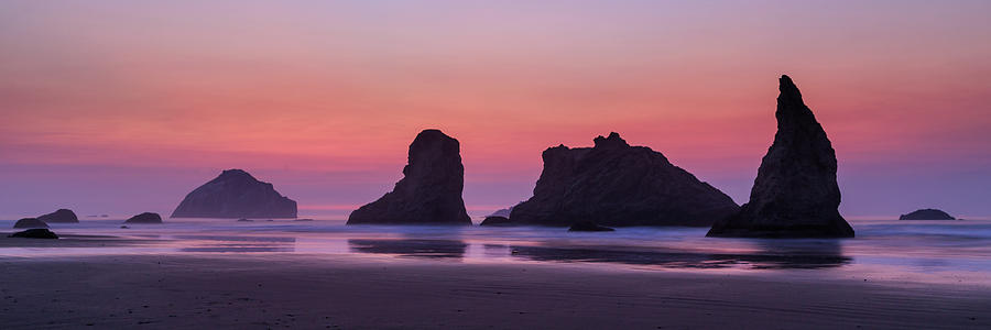 Bandon Face Rock Panorama by James Eddy