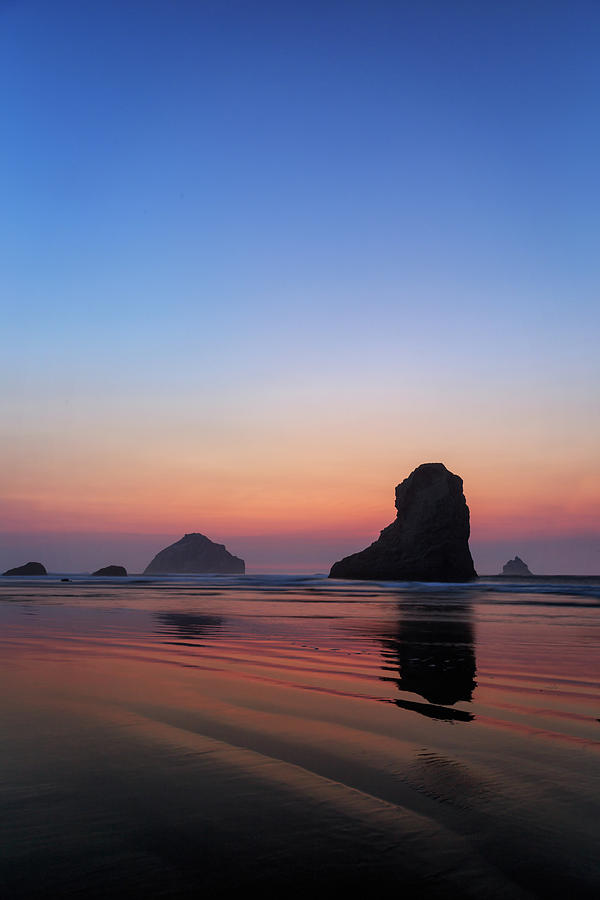 Bandon Face Rock Twilight by James Eddy