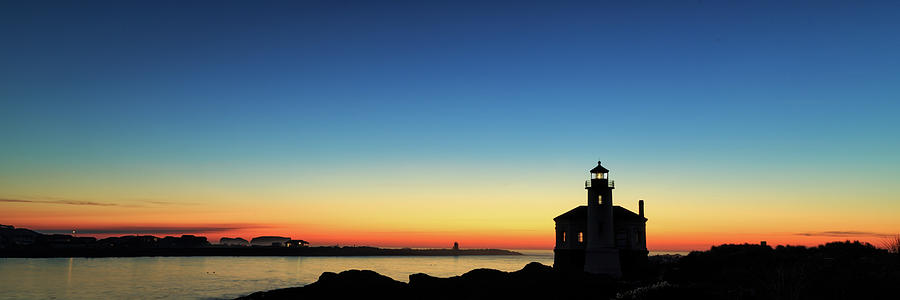 Bandon Lighthouse Twilight Panorama by James Eddy