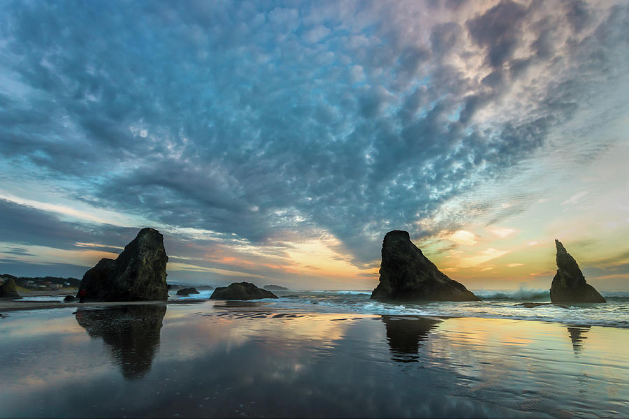 Altocumulus Photograph - Bandon by Peter Tellone