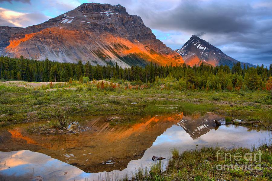 Banff Pond Sunset Reflections by Adam Jewell