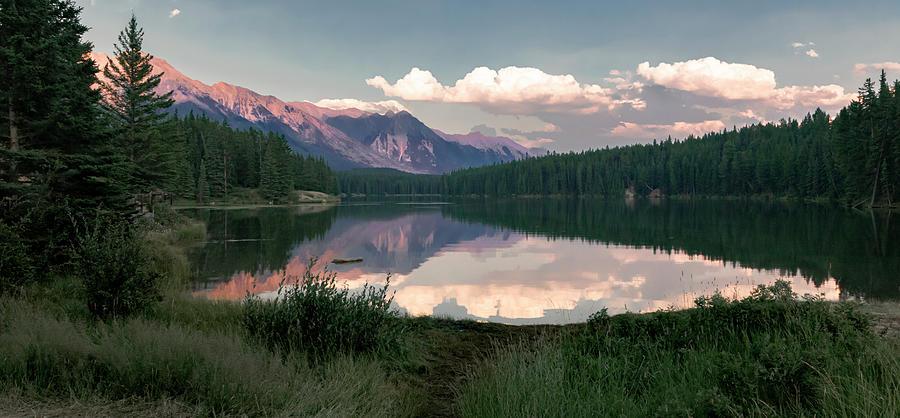 Banff Sunset Reflection Photograph