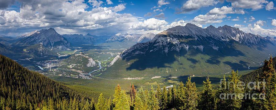 Banff Town Panorama by Alma Danison