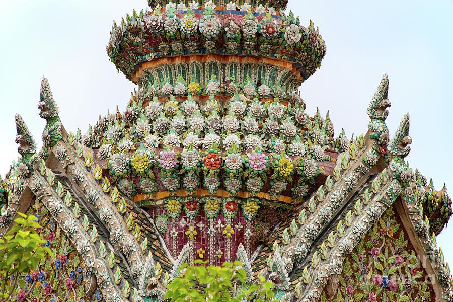 Bangkok Grand Palaces Ceramic Flower Decoration by Bob Phillips