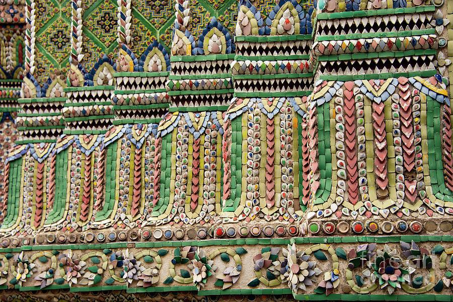 Bangkok Imperial Palace Ceramic Decoration by Bob Phillips
