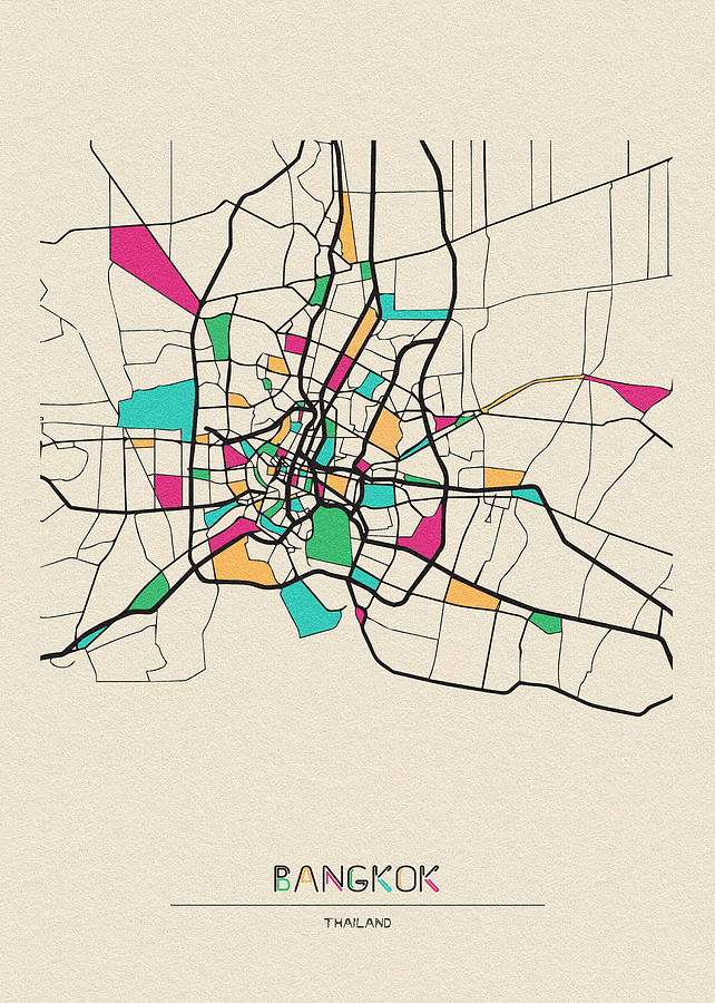 Bangkok, Thailand City Map