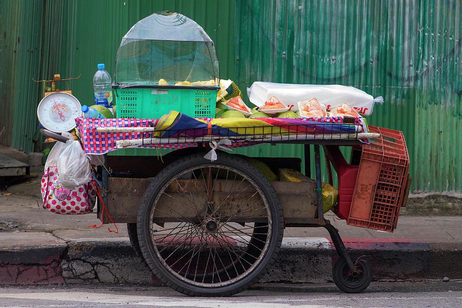 Bangkok_itinerant Fruit Shop Photograph by Jean-claude Soboul