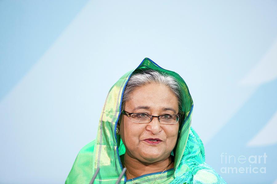 Bangladeshi Prime Minister Visits Photograph by Carsten Koall