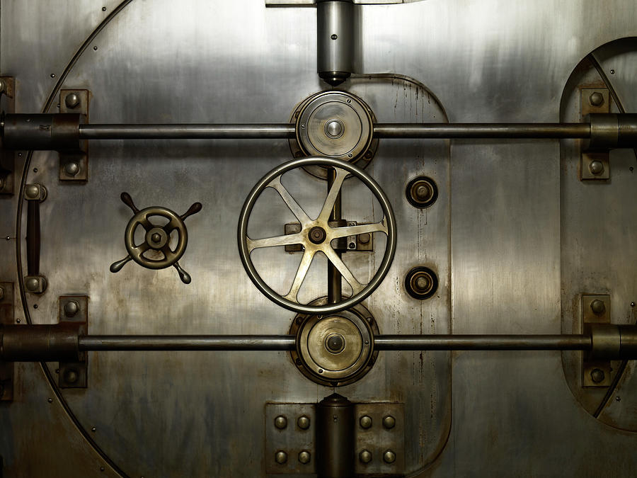 Bank Vault Door Photograph by Bill Diodato