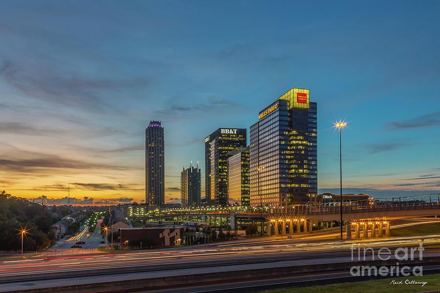 Midtown Atlanta Photograph - Banking Giants Too Atlanta Midtown Sunset Atlanta Georgia Art by Reid Callaway
