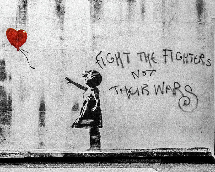 Banksy Balloon Girl Fight The Fighters by Gigi Ebert