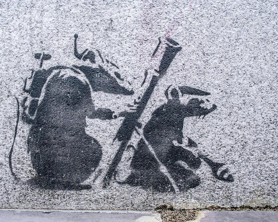 Banksy Bazooka Rats by Gigi Ebert