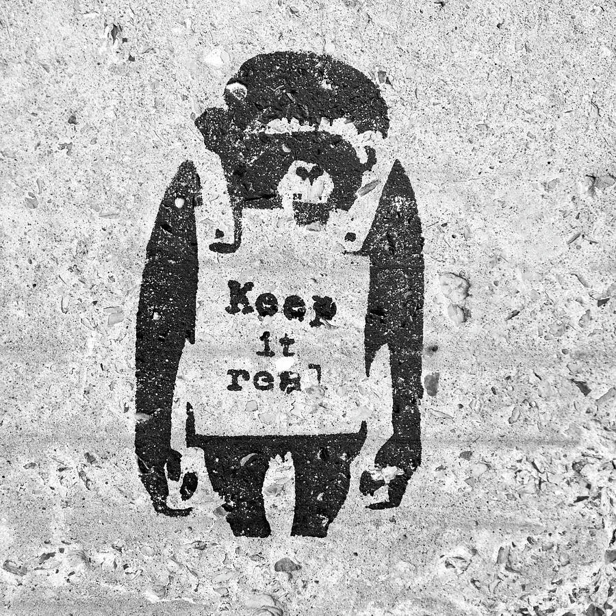 Banksy Chimp Keep It Real by Gigi Ebert