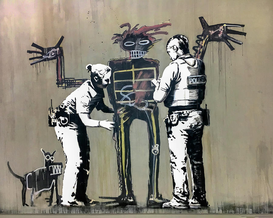 Banksy Coppers Pat Down by Gigi Ebert