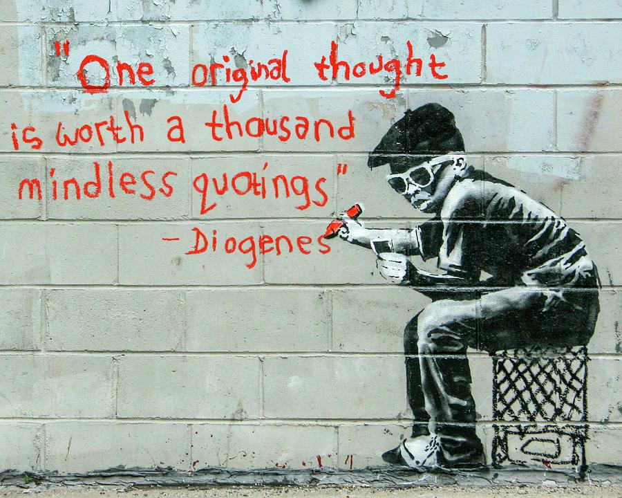 Banksy Diogenes by Gigi Ebert