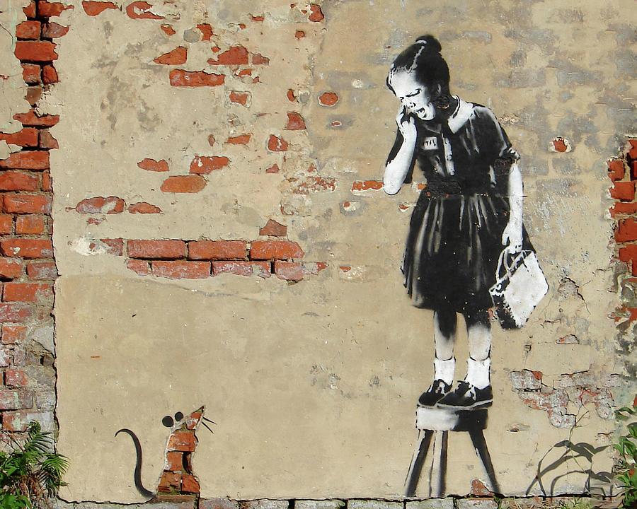Banksy New Orleans Girl and Mouse by Gigi Ebert