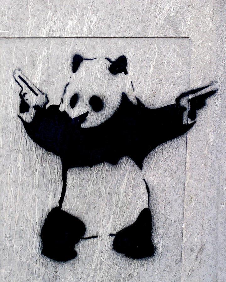 Banksy Panda by Gigi Ebert
