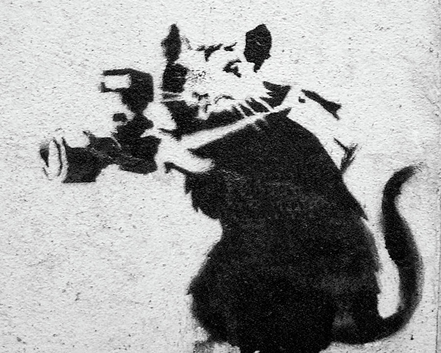 Banksy Rat With Camera by Gigi Ebert