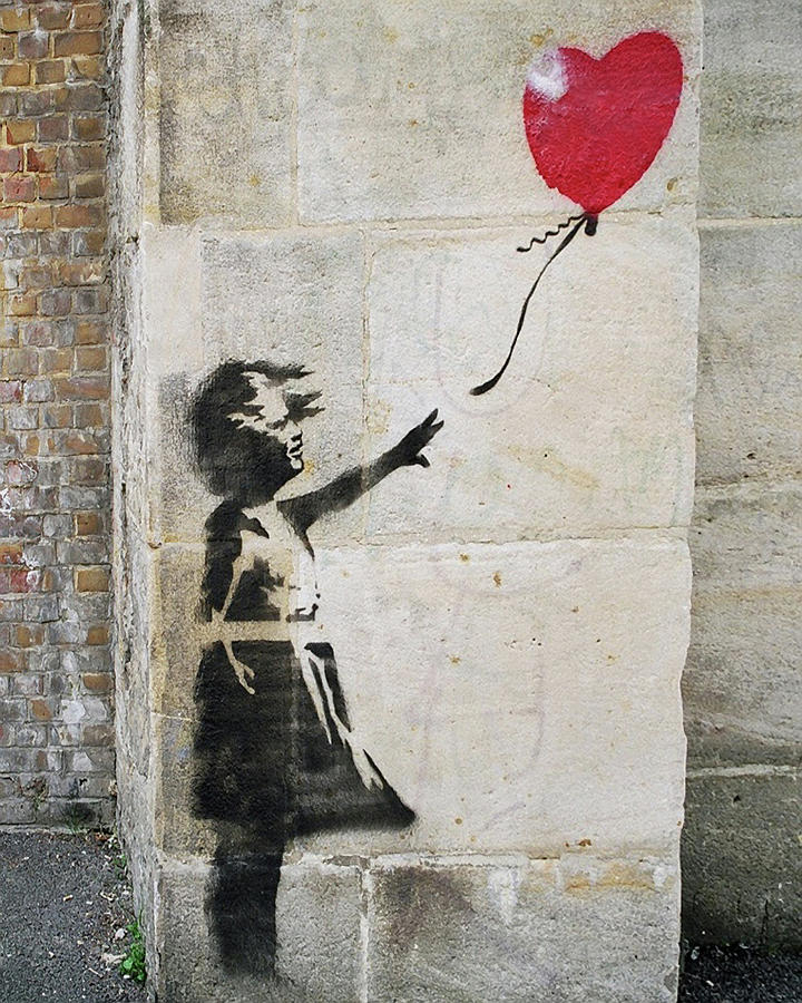 Banksy Street Art Girl With Balloon by Gigi Ebert